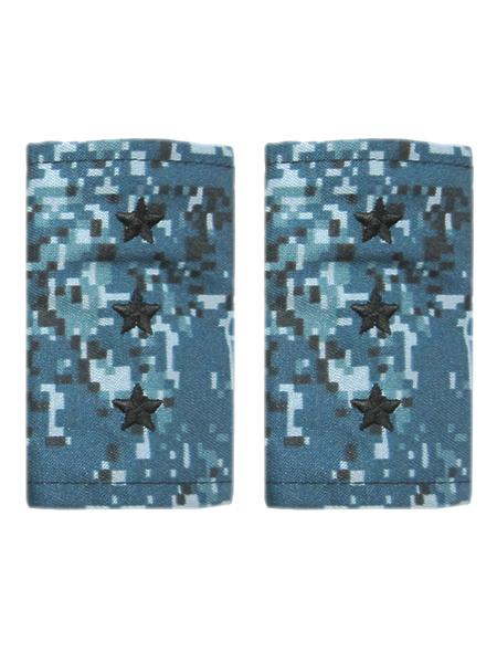 Фальшпогоны син.кмф(цифра), вышитые, ст.прапорщик (арт. 10152)