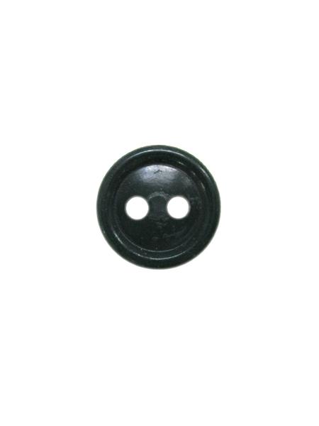 Пуговица на руб. черная 2 прок,п/а. (арт. 10941)