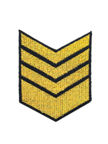 Нашивка выш. 8 лет выслуги, тк. темно-синяя (желт.) (арт. 11236)