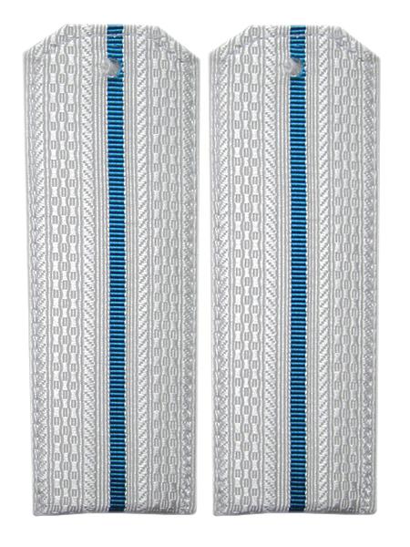 Погоны белые, 1 гол.просв., пласт.основа (арт. 11513)