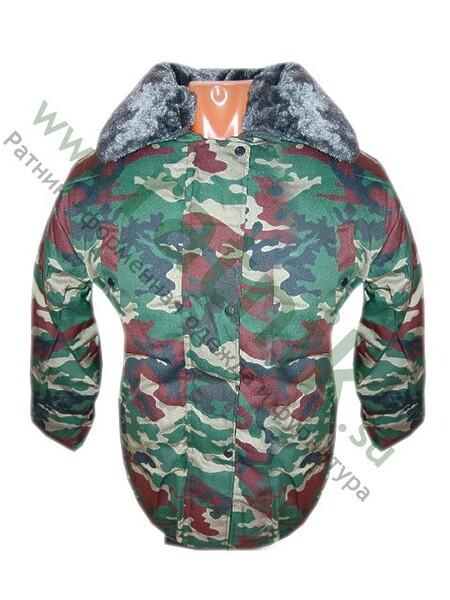 """Куртка зимн.""""Егерь-Б"""", тайга, капюшон, воротник иск.мех, подст.иск.мех,тк.смесовая. (арт. 1647)"""