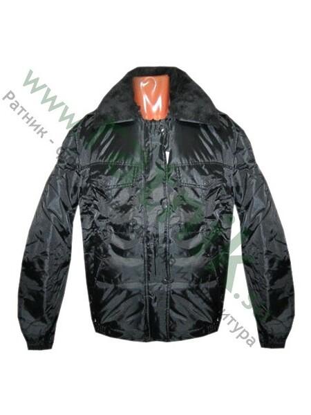 """Куртка  """"Полюс-К"""" черная,съемный утеплитель,тк.оксфорд. (арт. 1681)"""