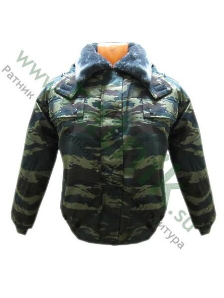 """Куртка зимн. """"Капитан-2-Б"""", зел.камыш, с подстежкой на молнии,капюшон, воротник иск.мех, тк.смесовая (арт. 1945)"""