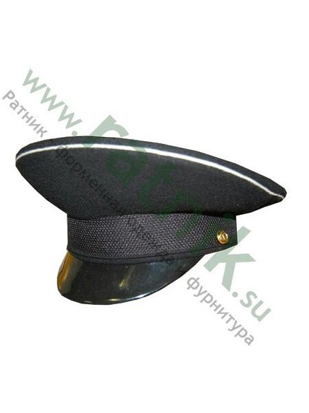 Фуражка уставная офицерская ВМФ (черная, бел.кант) (арт. 3040)