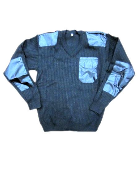 Свитер (джемпер) п/ш с накладками,V-образное горло, черный, мод.СК. (арт. 3216)