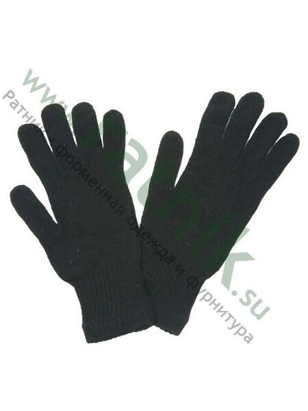 Перчатки п/ш вязаные, двойные, черные (арт. 3230)