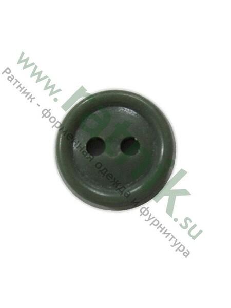 Пуговица на руб.оливк.2 прок,п/а. (арт. 3871)