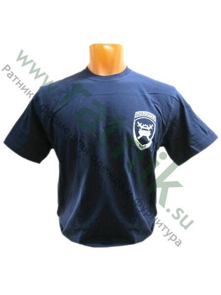 Футболка короткий рукав ДПС Полиция с эмблемой на груди и надписью на спине (арт. 5781)
