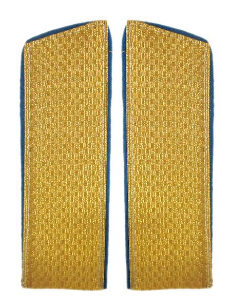 Погоны парадные золотые ,металлиз., васил. окант., косой угол (арт. 5953)