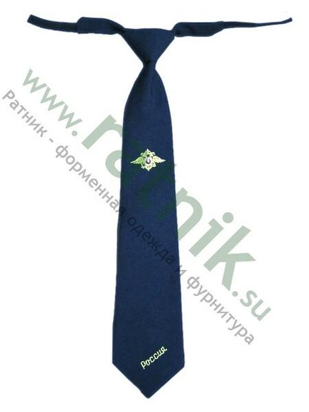 Галстук-регат с вышивкой Полиция (арт. 6057)