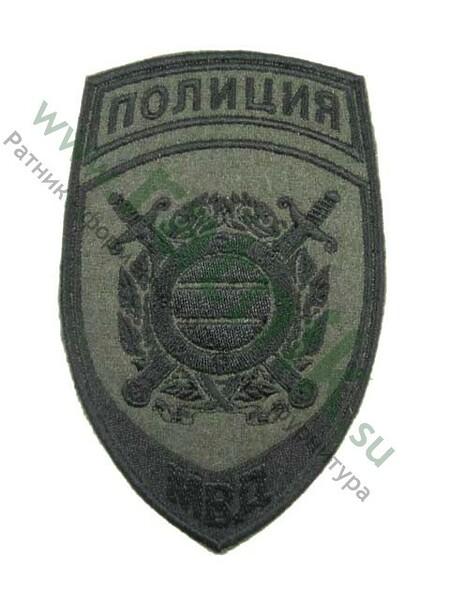 Шеврон выш. нарук.н/о Полиция ПООП (олива), шн. (арт. 6668)