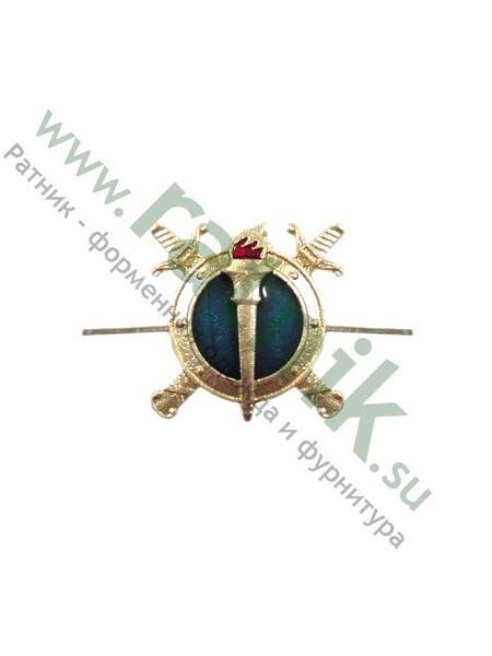 Эмблема петличная Юстиция н/о с эмалью. (арт. 7411)