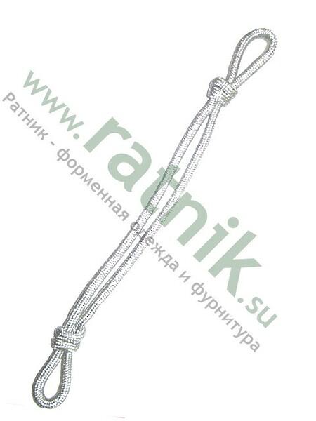 Шнур на фуражку мн серебро (арт. 8076)