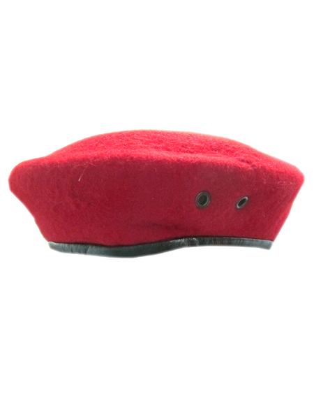 Берет бесшовный красный (капля, шерсть) (арт. 9655)
