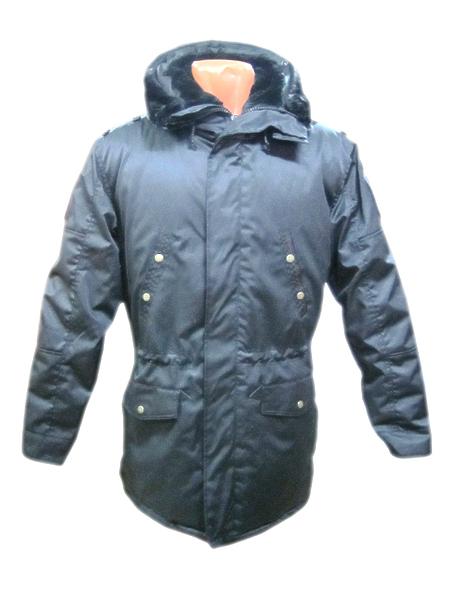 Куртка демисезонная офисная МО (аляска) цв.черный (арт. 9947)